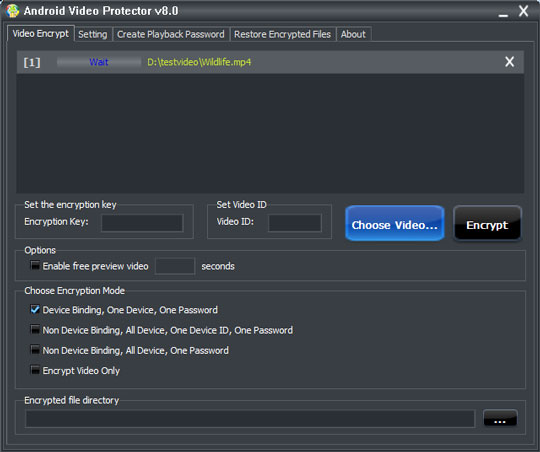 How to password protect video - Android Device Binding, One